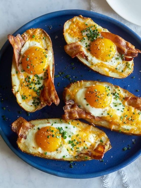 These Twice Baked Breakfast Potatoes