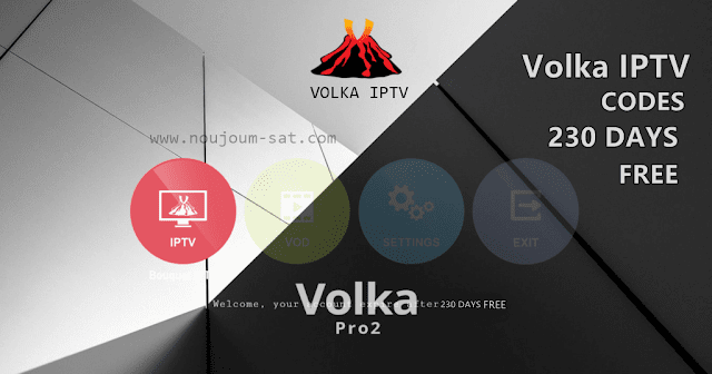 Volka IPTV Codes Expire After 230 Days FREE 2020