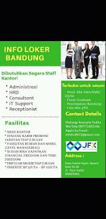 Lowongan Kerja JFX Bandung Agustus 2020