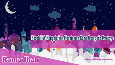 Rasulullah Mengajarkan Manajemen Ramadhan pada Umatnya