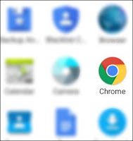 open chrome browser