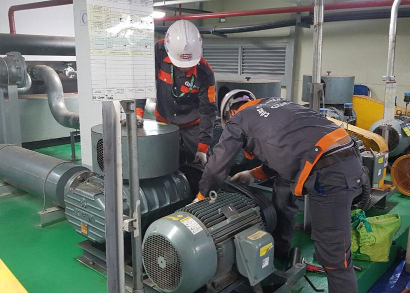 Bảo dưỡng máy thổi khí KFM SL 200 - Samsung Thái Nguyên