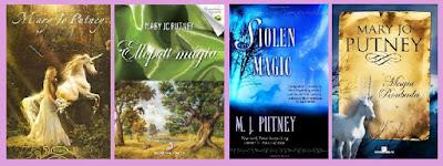 portadas de la novela romántica paranormal Magia Robada, de Mary Jo Putney