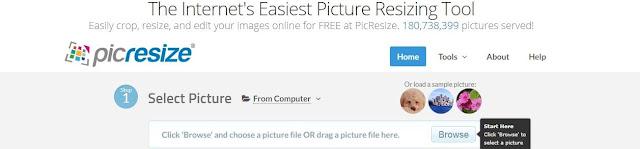 موقع picresize لضغط الصور اونلاين