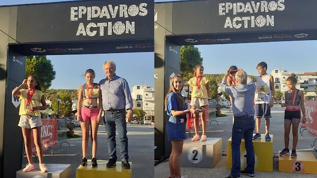 Πρώτη στα κορίτσια η Αναστασία Παπαντωνίου στο Epidayros action city Run Kids