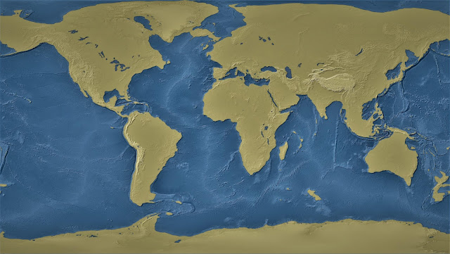 The world with a 1-kilometre sea-level drop