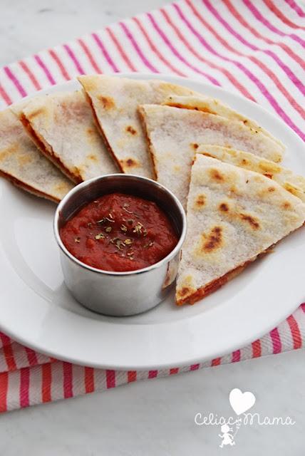 gluten free pizza quesadillas
