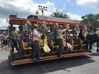 Spring Main Street USA Trolley Show Disney World