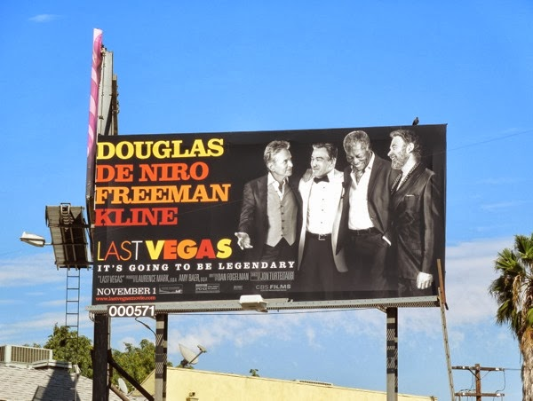 Last Vegas movie billboard ad