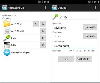 برنامج Alternate Password DB موثوق وآمن يساعدك على حفظ بيانات الدخول السرية لجميع حساباتك الالكترونية على الانترنت في قاعدة بيانات مشفرة
