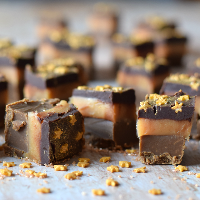 How to make Salted Caramel Millionaire's Fudge