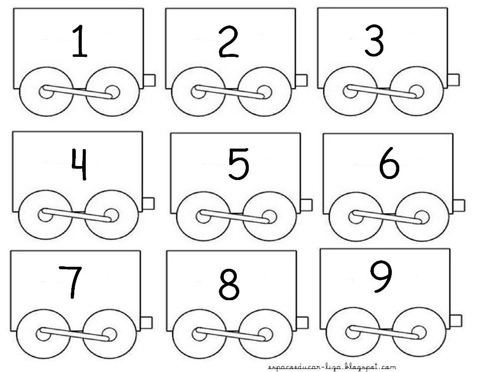 Cartaz Trem Dos Numerais De 1 A 50 Espaco Educar