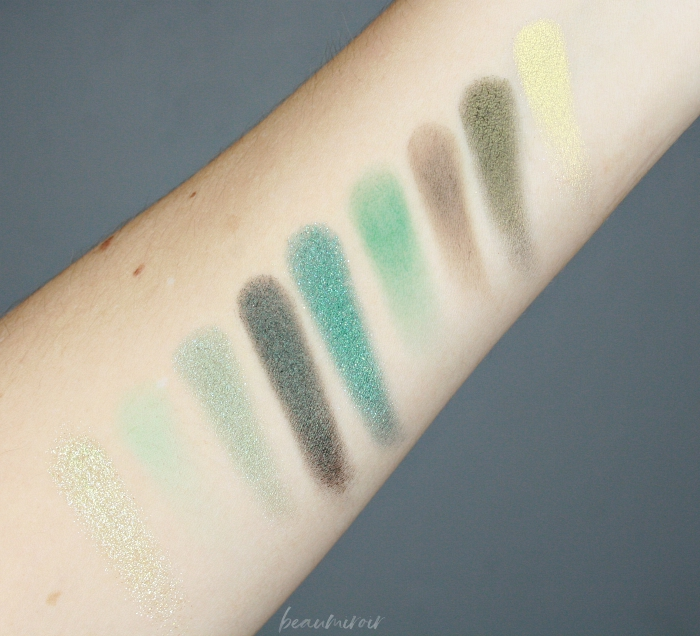 swatch emerald green palette