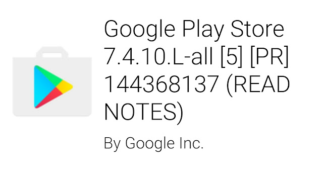 Google Play Store 7.4 apk update : Download now from here