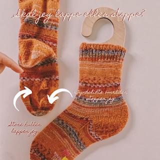 Lær at lappe og stoppe huller i dine sokker over på bloggen www.bykaae.dk