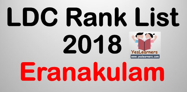 LDC Rank List 2018 - Ernakulam