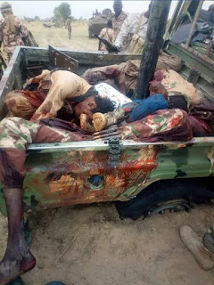 Graphic Photos: Boko Haram militants killed in joint operation by Nigerian and Chadian armies