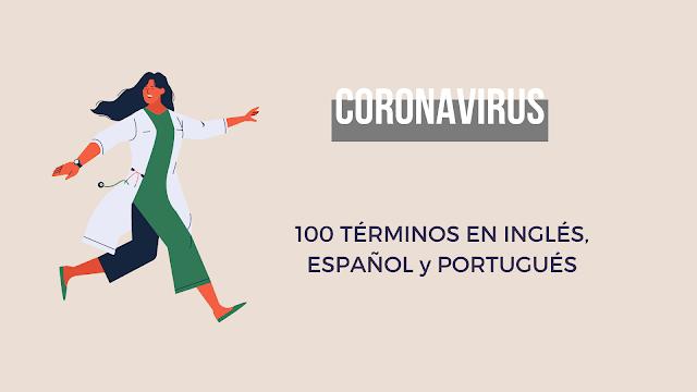 Glosario del Coronavirus Inglés Español Portugués