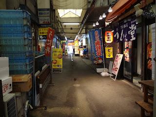 札幌場外市場の路地