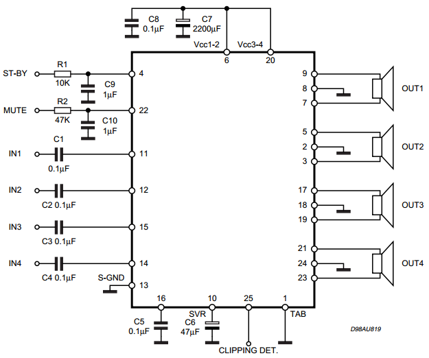 Tda7297 Bridge Amplifier Circuit Diagram - Circuit Boards