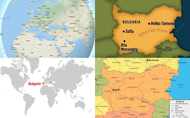 peta negara bulgaria