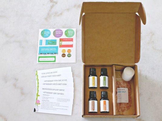 Simply Earth August Essential Oil Recipe Box + Coupon