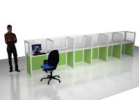 Kontraktor Interior - Meja Sekat Partisi Untuk Telemarketing /Operator Telepon