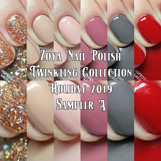 Zoya Nail Polish Twinkling Collection Holiday 2019 Sampler A