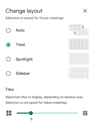 See up to 49 people, including yourself, in Google Meet 2