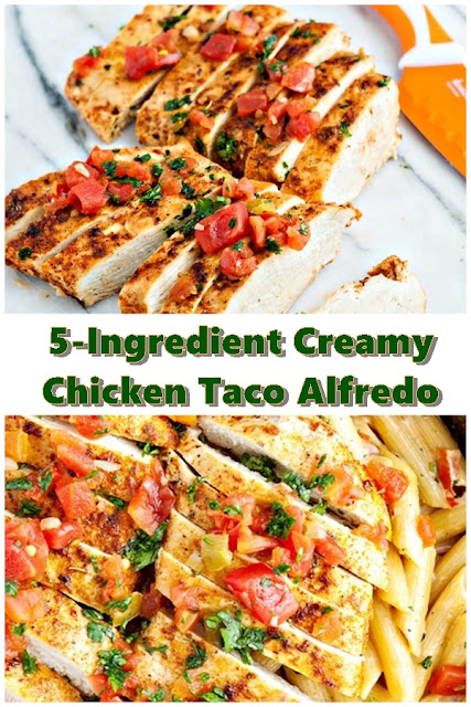 5 #Ingredient #Creamy #Chicken #Taco #Alfredo #crockpotrecipes #chickenbreastrecipes #easychickenrecipes