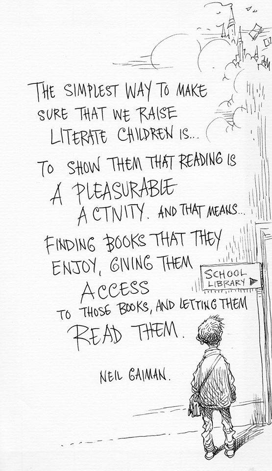 Show them that reading is a pleasurable activity