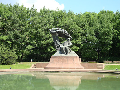 Chopin Monument in Lazienki Park Photo by Maja Trochimczyk