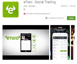 Ulasan entang Aplikasi broker eToro