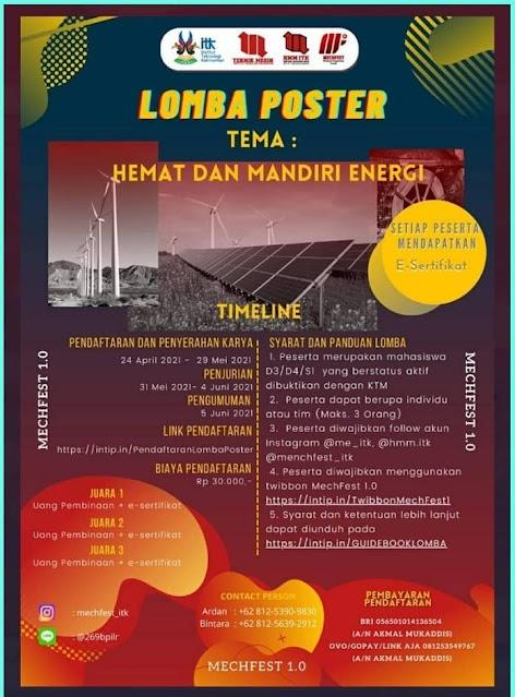 Mechanical Engineering Festival (MECHFEST 1.0) Ada Lomba Esai dan POSTER