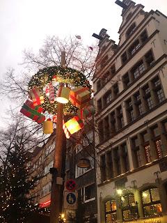 Eingang am Altermarkt Köln, Weihnachtsmarkt