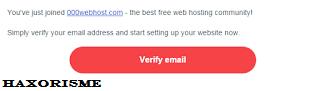 Verifikasi Email 000webhost
