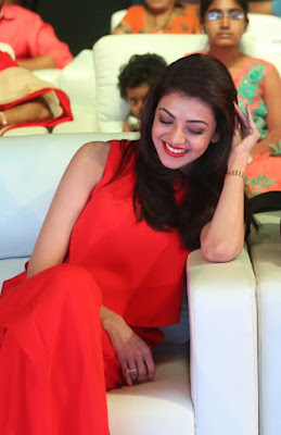 Kajal Agarwal at Oopiri Movie Audio Release