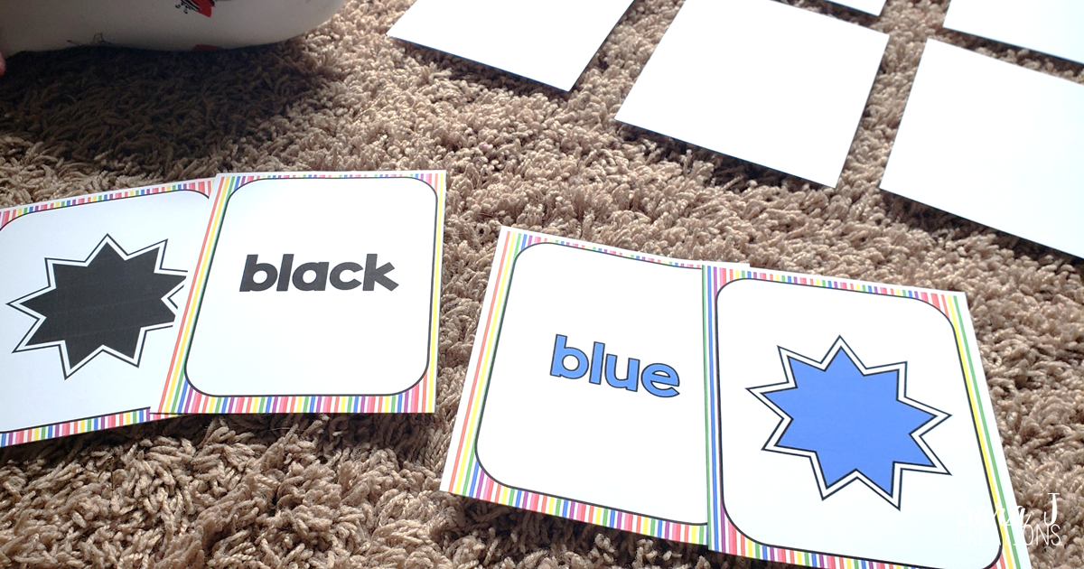 Learning Colors Game Matches