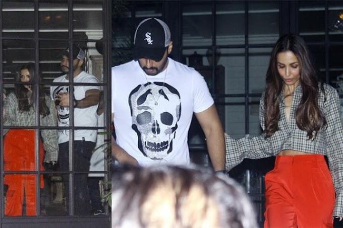 Latest Bollywood News- Arjun Kapoor and Malaika Arora Enjoy Dinner Date Before Valantine Day