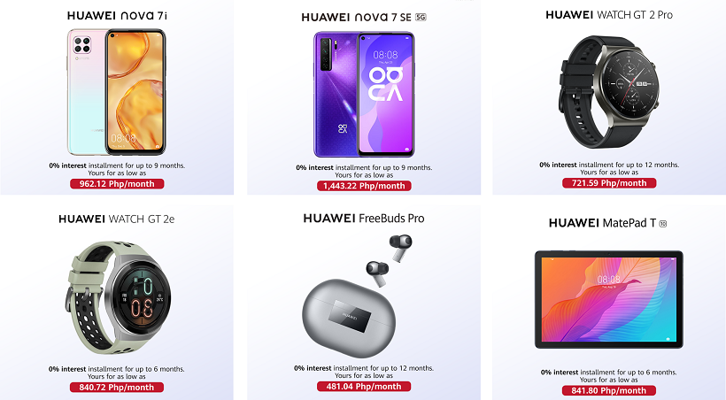 Shop Huawei Devices via Home Credit's ZERO % Installment Exclusives!
