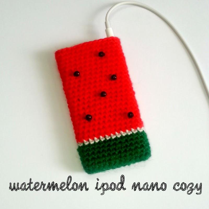 Crochet: Watermelon ipod nano crochet cozy pattern