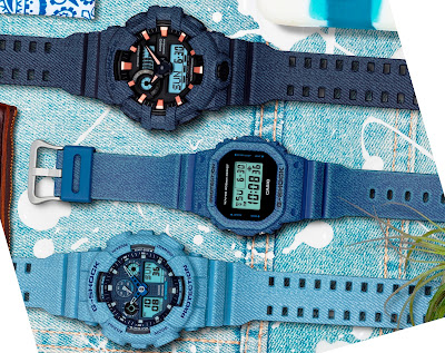 CASIO DENIM'D COLOR WATCHES
