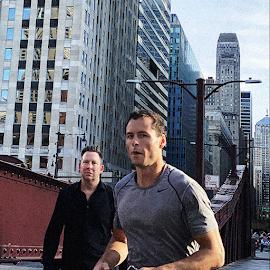 City runner in Nike gear.