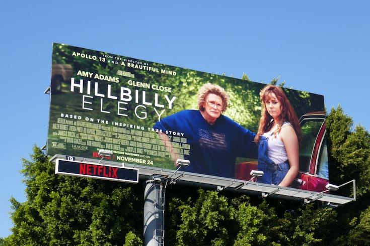 Hillbilly Elegy film billboard
