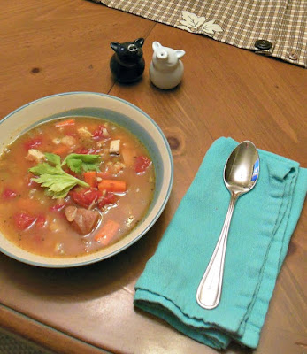 Terrific Turkey Soup, a frugal recipe to get the most from your roast turkey.