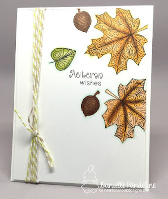 Beautiful Leaves | Newtons  Nook Designs | Card Created by Danielle Pandeline