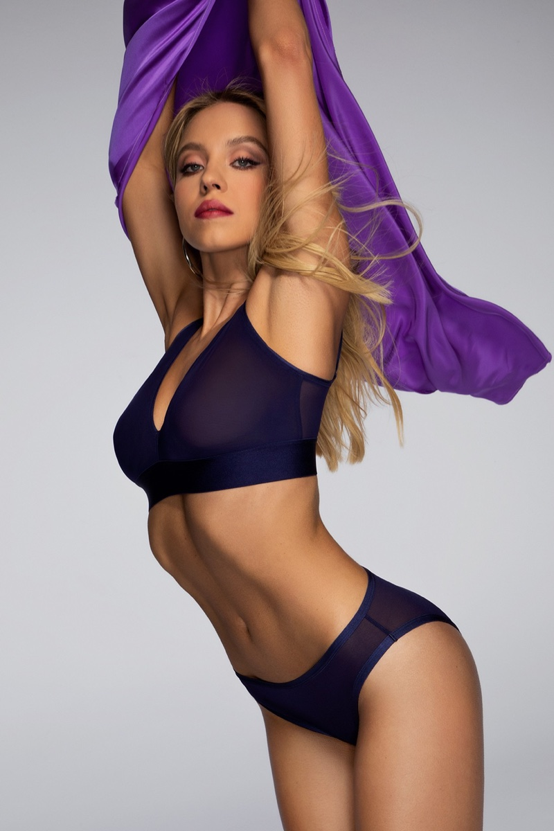 Sydney Sweeney Wows in Parade Underwear Silky Mesh Campaign