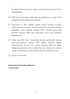 V7 TEKS%2BUCAPAN%2BPELAN%2BTINDAKAN%2BPERSEKOLAHAN%2BPASCA%2BPKP 5 - COVID-19: UPSR, PT3 dibatalkan, SPM, STPM ditunda ke 2021