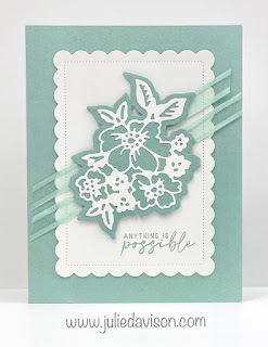 Stampin' Up! 2021-2023 In Color Cards using Penned Flowers and Scalloped Contours Dies ~ Soft Succulent ~ www.juliedavison.com #stampinup #incolor