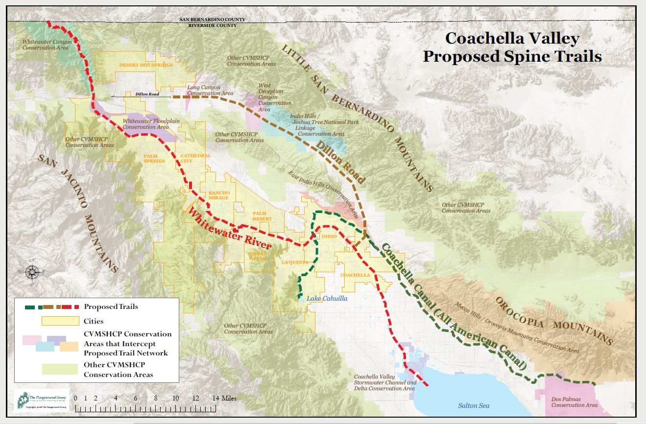 gradually trail and bikeway maps were included in general plans for all local jurisdictions and trail maps have been prepared for developments in the